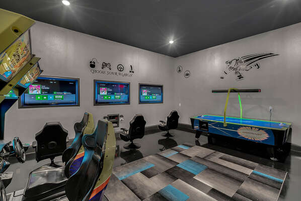 Play all day in this fun games room