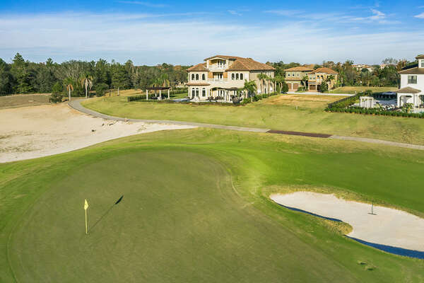 The 8th hole of the Jack Nicklaus Signature Golf Course