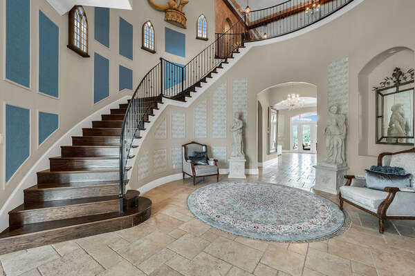 Be welcomed into a beautiful open foyer