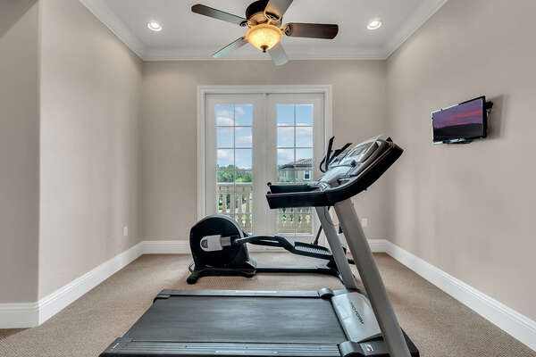 Stay fit with a private fitness room