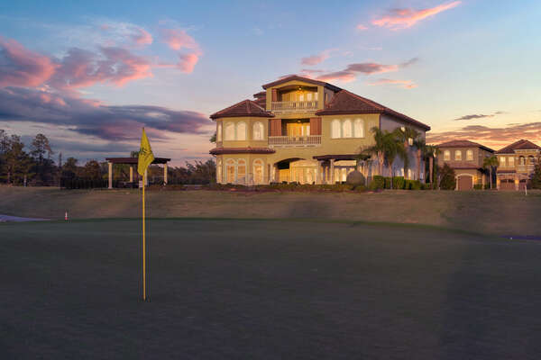 The view of the home from the 8th hold of the Jack Nicklaus Signature Golf Course