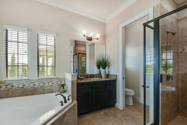 A large ensuite bathroom with plenty of space