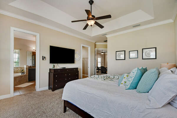 Relax and watch your favorite movie in bed after a long day of enjoying Orlando attractions