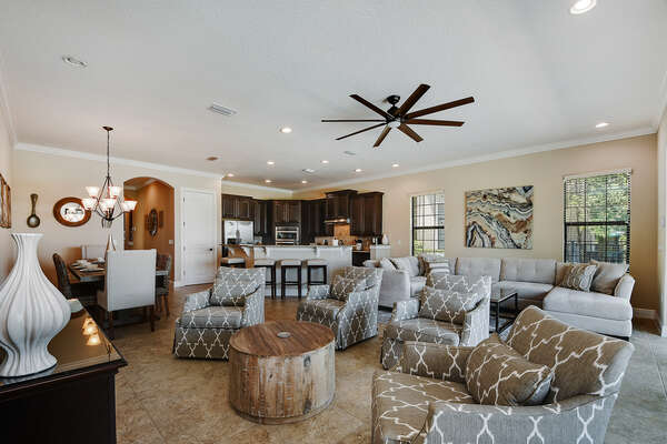 The open floor plan is perfect for the whole family