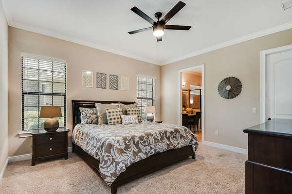 Master bedroom on the main floor