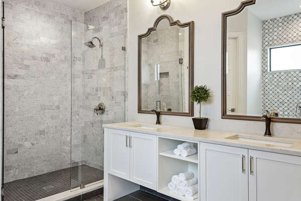 Gorgeous bathroom with a walk-in shower