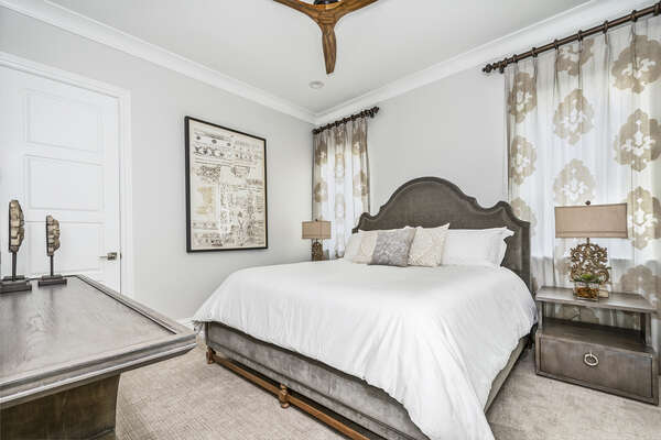 This lavish Master suite features a comfortable King bed