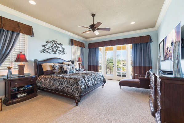 Master Suite 5 is located on the second floor