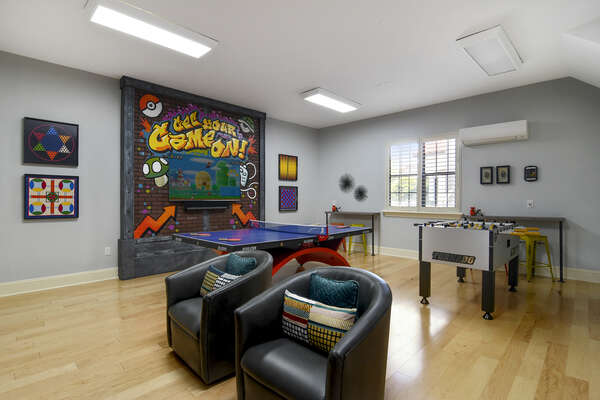 Get your game on in this awesome games room