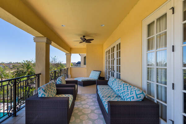 Patio balcony with views to the golf course views