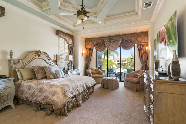 Master Suite 1 is located on the first floor