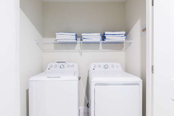 The home has a washer and dryer on the second floor available for your use