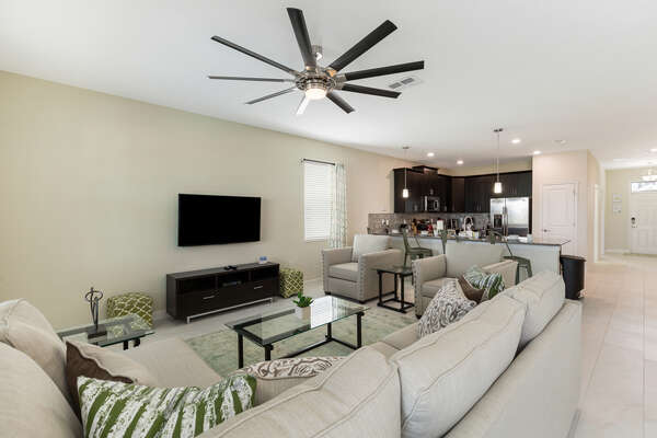 Open concept living space is perfect for the whole family to make unforgettable vacation memories together