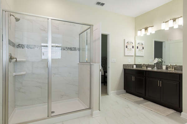 Enjoy the walk-in shower in the master bathroom