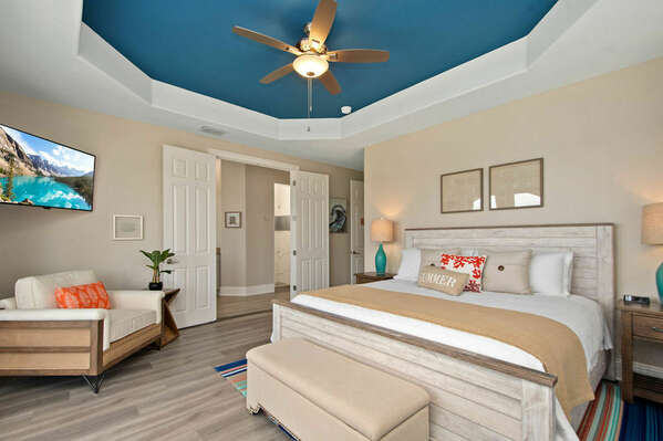 A master suite located on the second floor