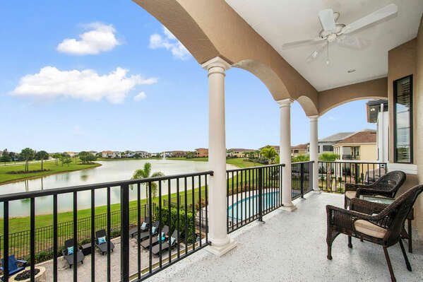 Sit outside in the balcony and enjoy the lake view throughout the day