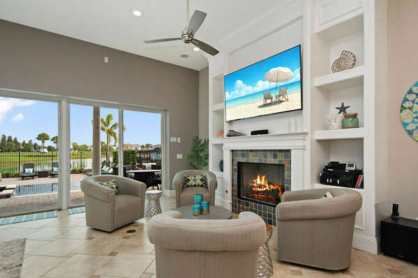 The living area is ideal to sit back and relax