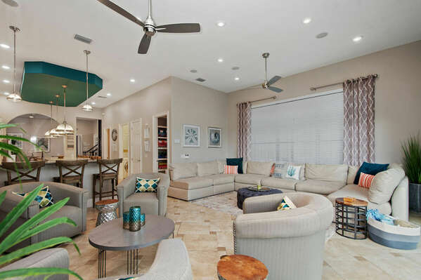 Indulge in the luxury furnishing throughout the villa