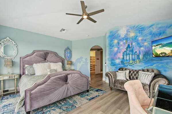 This master suite is located on the third floor