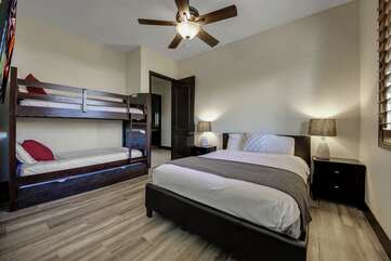 One full sized bed plus bunk beds sleeps 4, TV  Bedroom 4