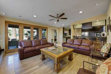 Enough space for everyone to enjoy some relaxation in the family room.