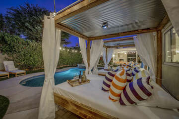 Relax on the comfortable cabanas while you keep a close eye on the kids splashing away in the pool.