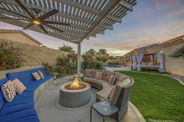 Enjoy some wine and catch up with old friends at this perfect and private area!