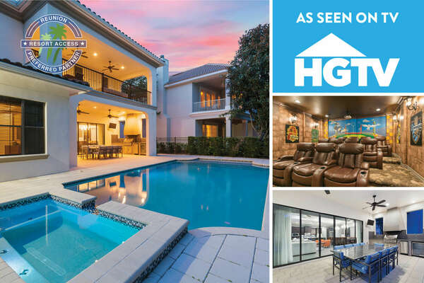 Welcome to the Ultimate Vacation Home, a 9 bedroom home featured in HGTV's House Hunters | PHOTOS TAKEN: 2017