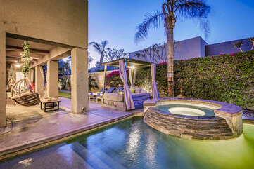 The backyard at Hard Roq will leave you speechless.