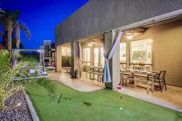 After dinner head over to the putting green to practice your game of golf.