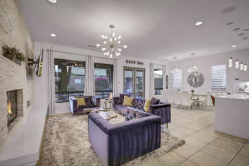 Hard Roq opens up to an oversized great room with an open floor plan including the formal dinning room and gourmet kitchen.