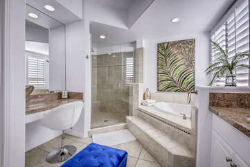 All restrooms come with plenty of bath towels plus a starter set of L'Occitane soaps.