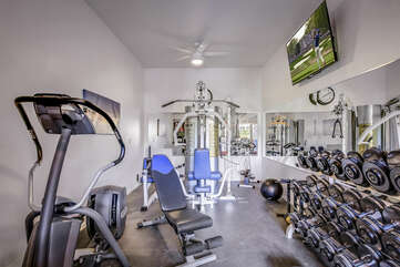 This private gym has everything you will need to enjoy a great workout, just bring your pre-workout shake!