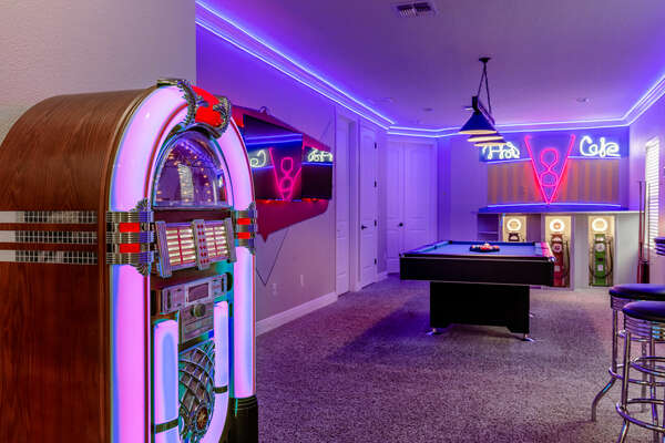 Play some tunes on the jukebox to really feel like a fun classic diner experience