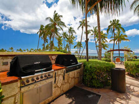Two of the Four Barbecue Grills on Property When You stay in our Oahu Ko Olina Beach Villa