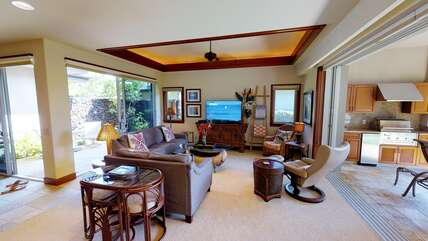 Mauna Lani Villages 304 Living Area with Access to Lanai