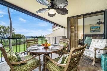 Spacious Lanai perfect for relaxation!
