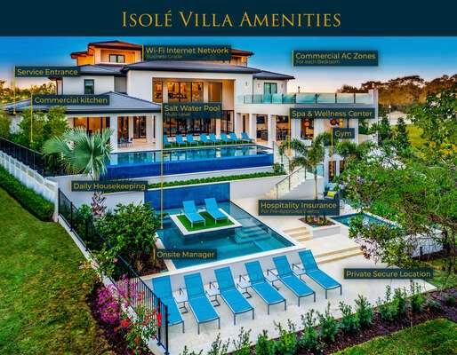Welcome to the luxurious Isole Villas where you will be welcomed with chilled champagne | Photos Taken: October 2018