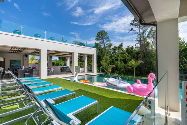 Enjoy the sunshine with a multi-level salt water pool