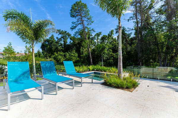 Relax in privacy while surrounded by nature