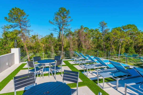 Relax or soak up the Florida sun in the second floor terrace