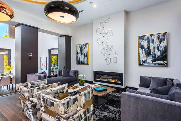 Modern design combines comfort and style to relax in style (Disclaimer: Fireplace(s) not allowed for guest use, homeowner use only.)