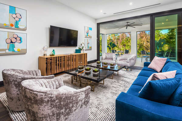 Enjoy the surrounding views while enjoying modern comforts