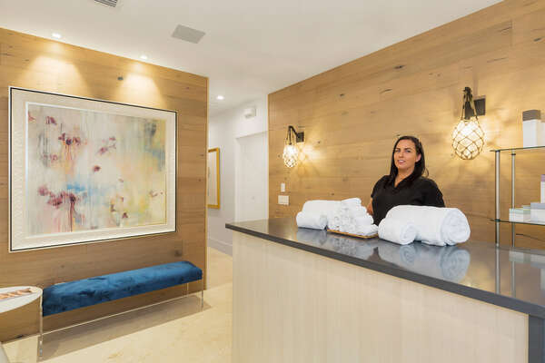 Be welcomed into the luxurious on-site spa