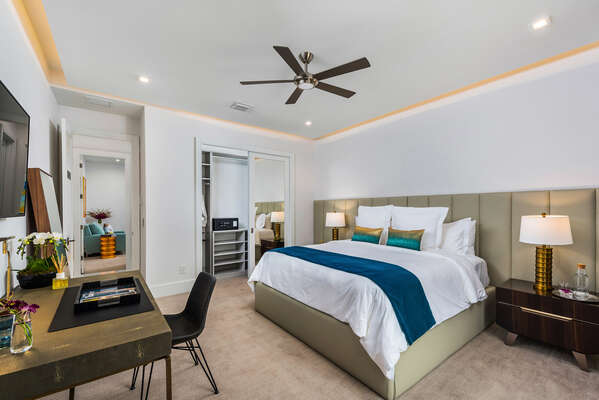 Contemporary comfort with luxurious finishes in a private Ambassador suite