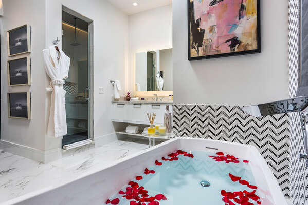 Relax in this beautiful spa soaking tub