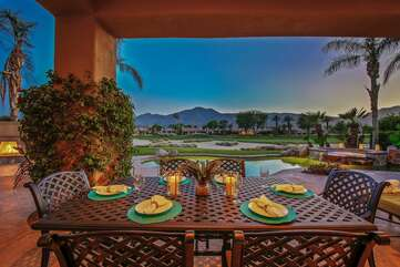 Outdoor dining with breathtaking views
