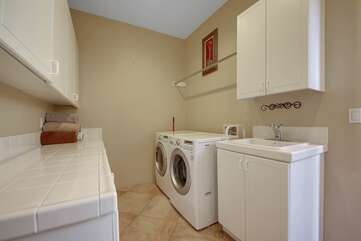 Take advantage of the newer washer/dryer and go home with clean clothes  ;)