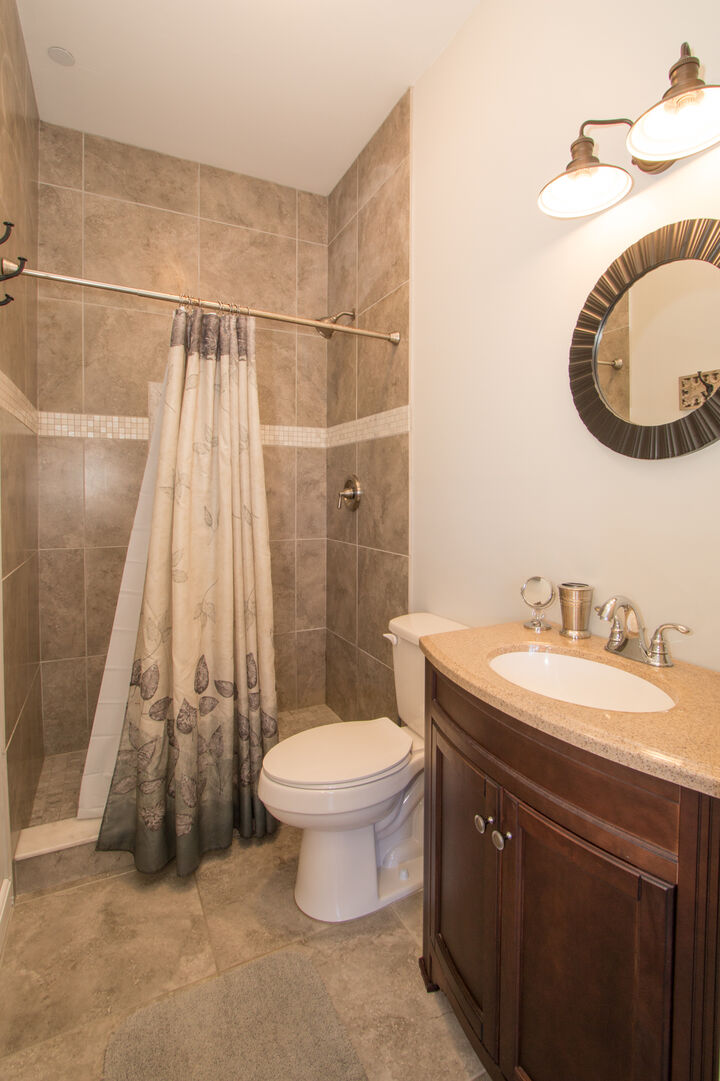 Bathroom with shower in our vacation home in Fort Myers Beach