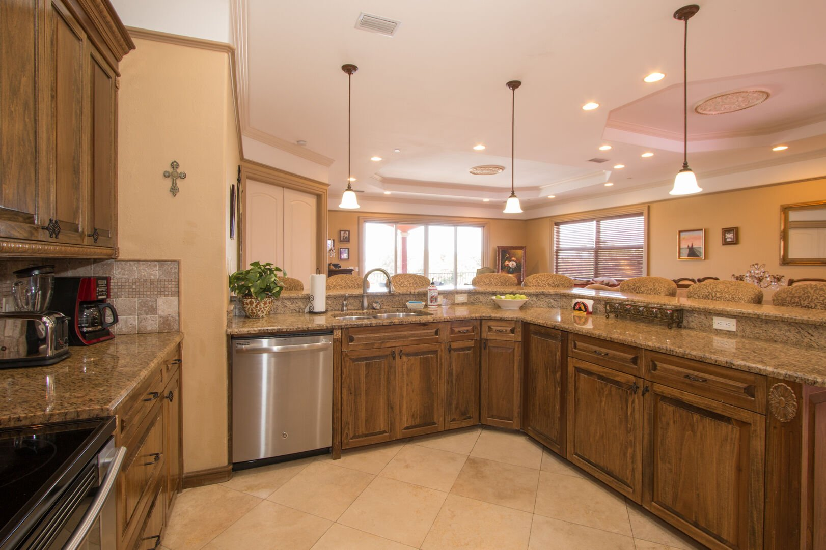 Fully equipped kitchen in our vacation home in Fort Myers Beach